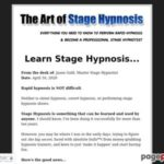 Learn Stage Hypnosis | The Art of Stage Hypnosis